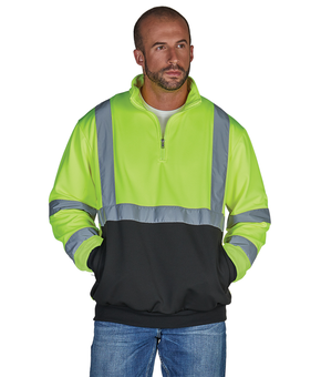Quarter Zip Hi-Vis Sweatshirt