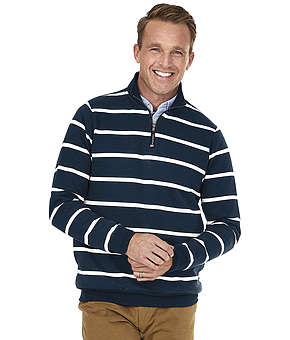 Crosswind Quarter Zip Print Sweatshirt