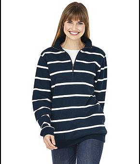 Crosswind Quarter Zip Print Sweatshirt