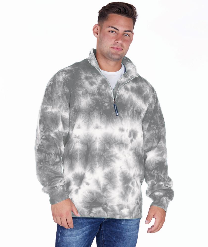 grey tie dye sweatshirt quarter zip tie dye sweatshirt Tie dye sweatshirt size medium