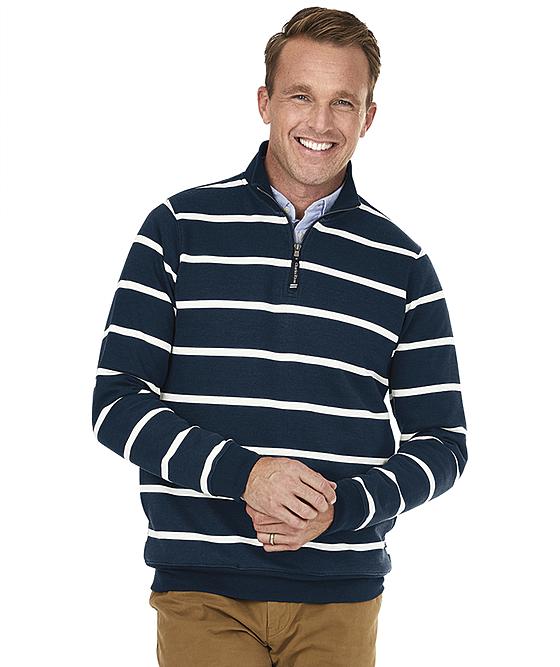 Adult Crosswind Quarter Zip Print Sweatshirt
