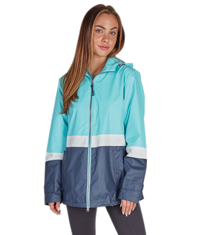 Women's Color Blocked New Englander® Rain Jacket