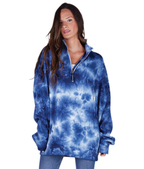 Crosswind Quarter Zip Sweatshirt (Tie-Dye)